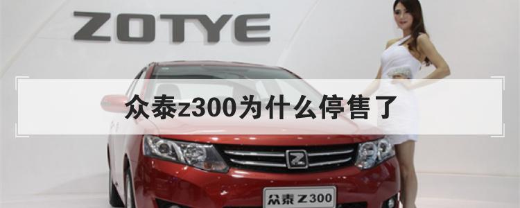 眾泰z300為什么停售了