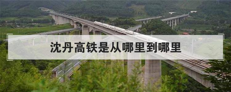 沈丹高铁是从哪里到哪里